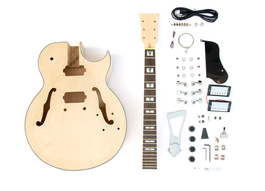 DIY Electric Guitar Kit 175 Style Build Your Own Guitar Kit - Sharp Arch