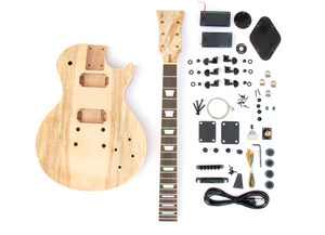 DIY Electric Guitar Kit - Singlecut Spalted Maple Bolt On Neck