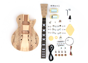 DIY Electric Guitar Kit – Singlecut Spalted Maple Kit Build Your Own Guitar