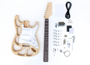 DIY Electric Guitar Kit - ST Style Build Your Own Guitar Cut Body