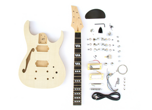DIY Electric Guitar Kit Semi Hollow Double Cut Build Your Own Guitar Kit
