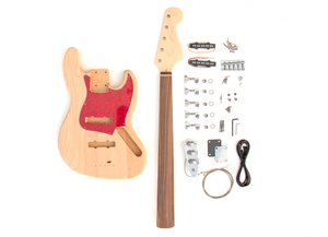DIY Electric Bass Guitar Kit - Fretless 5 String J Bass Build Your Own
