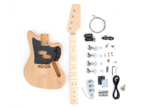 DIY Electric Bass Guitar Kit - Offset P-J Short Scale Bass Kit
