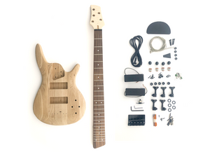 DIY Electric Bass Guitar Kit - 5 String Ash Bass