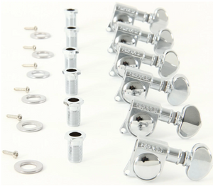 Grover GV406C6 Mini Rotomatics Locking Tuner Set - 6 In Line Chrome 406c6