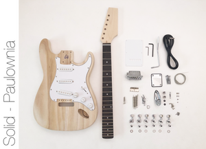 DIY Electric Guitar Kit - ST Style Paulownia Build Your Own Guitar