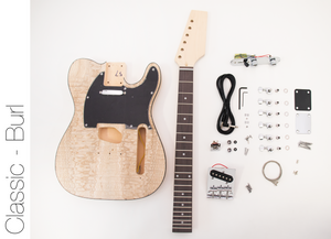 DIY Electric Guitar Kit Burl Ash TL Style Build Your Own Guitar