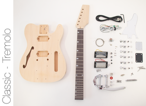DIY Electric Guitar Kit TL Thinline Tremolo Style Build Your Own Guitar Kit