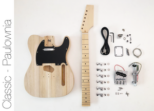 DIY Electric Guitar Kit - Paulownia TL Build Your Own Guitar