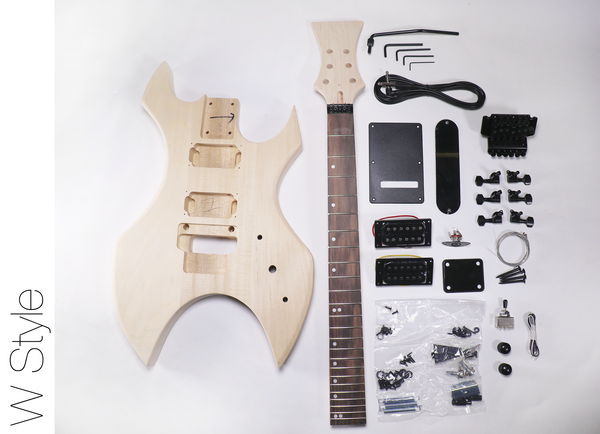 diy electric guitar kit w style build your own guitar kit the fretwire. Black Bedroom Furniture Sets. Home Design Ideas
