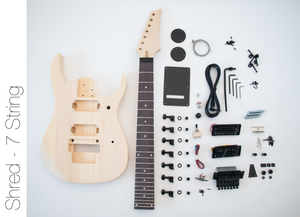 DIY Electric Guitar Kit - 7 String Build Your Own Guitar