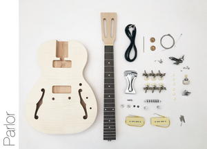 DIY Electric Guitar Kit Semi Hollow Body Style Build Your Own Guitar Kit - Parlor