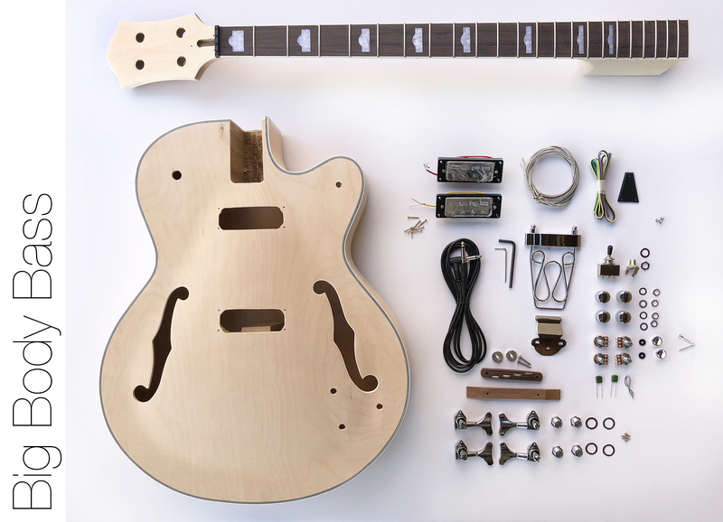 diy electric bass guitar kit hollow body bass build your own bass rh thefretwire com