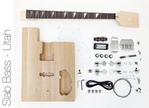 DIY Electric Bass Guitar Kit - Utah Slab Advanced Bass Guitar Kit