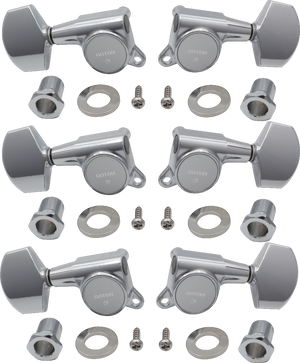 Gotoh Large Locking Schaller-style, Tuner Set - 3R3L Chrome