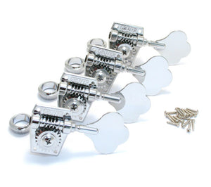 Grover Vintage Bass Machine Heads - Chrome Tuners 4 In Line