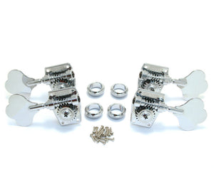 Grover GV142C Vintage Bass Machine Heads - Chrome Tuners 2 per side