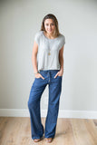 Dark denim lounge pant
