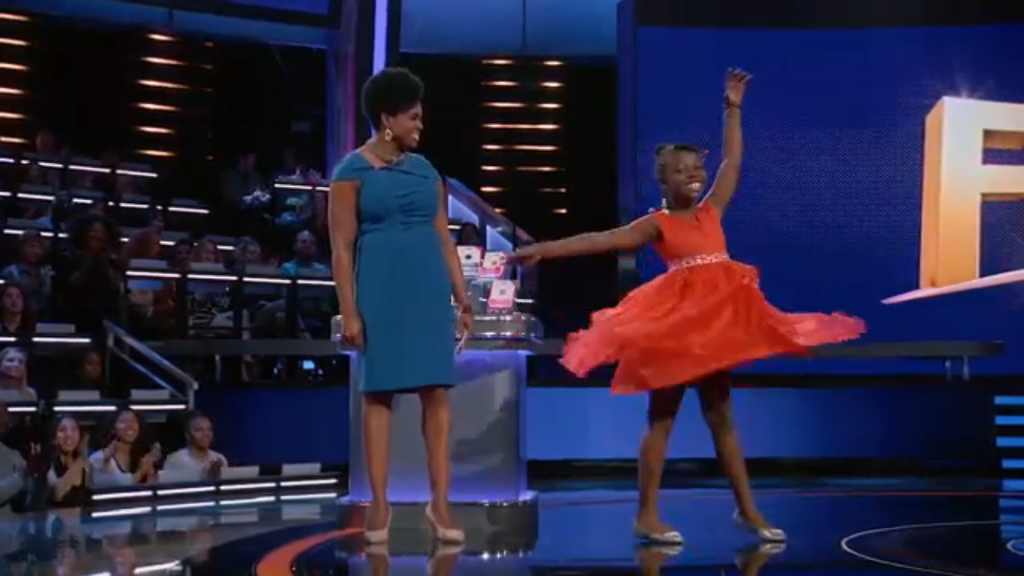WAIT! That little girl dancing in the red dress on Funderdome looks like Gabby!