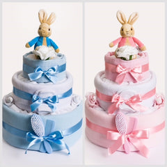 Peter Rabbit Nappy Cakes