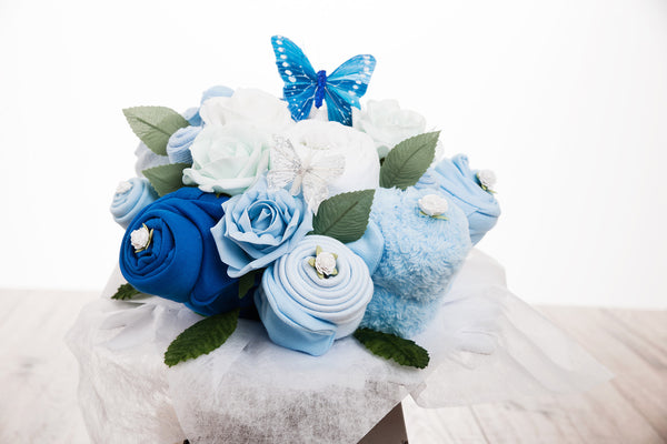 Baby Clothes Bouquet - Blue