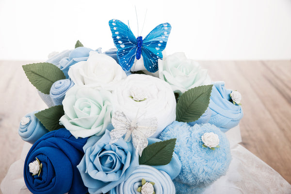 sock bouquet for baby shower