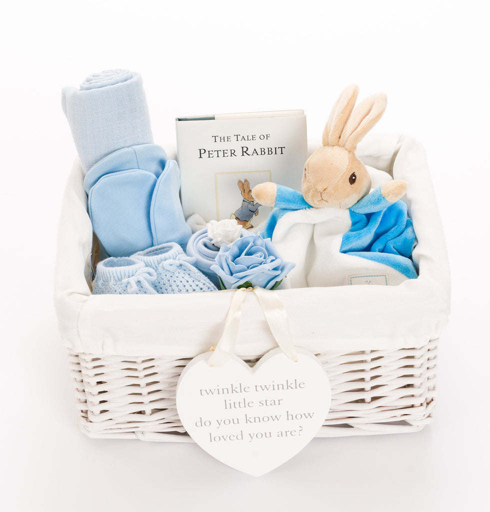 Peter rabbit baby hampers personalised baby gifts uk beloved personalised peter rabbit baby boy hamper negle Image collections