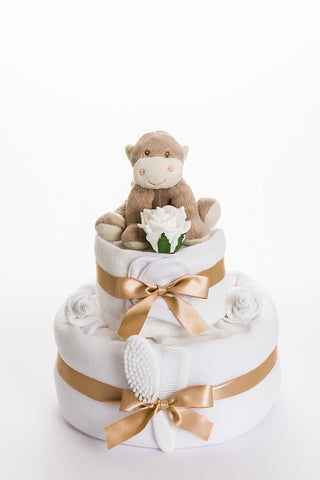 Cheeky Monkey 2 tier nappy cake
