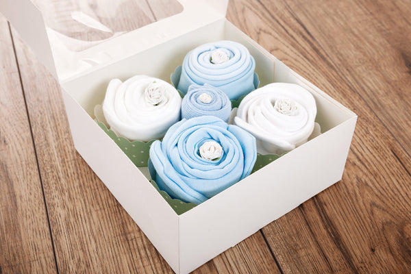 diaper cupcakes for baby showers