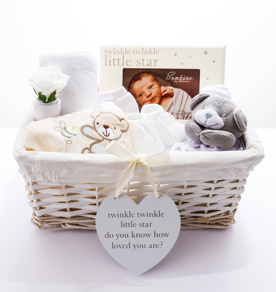 Mother And Baby Gift Hamper : Neutral baby hampers shower gift ideas by beloved