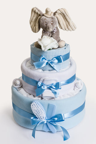 Disney Dumbo 3 Tier Nappy Cake Blue
