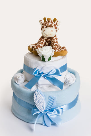 Georgie Giraffe 2 tier nappy cake