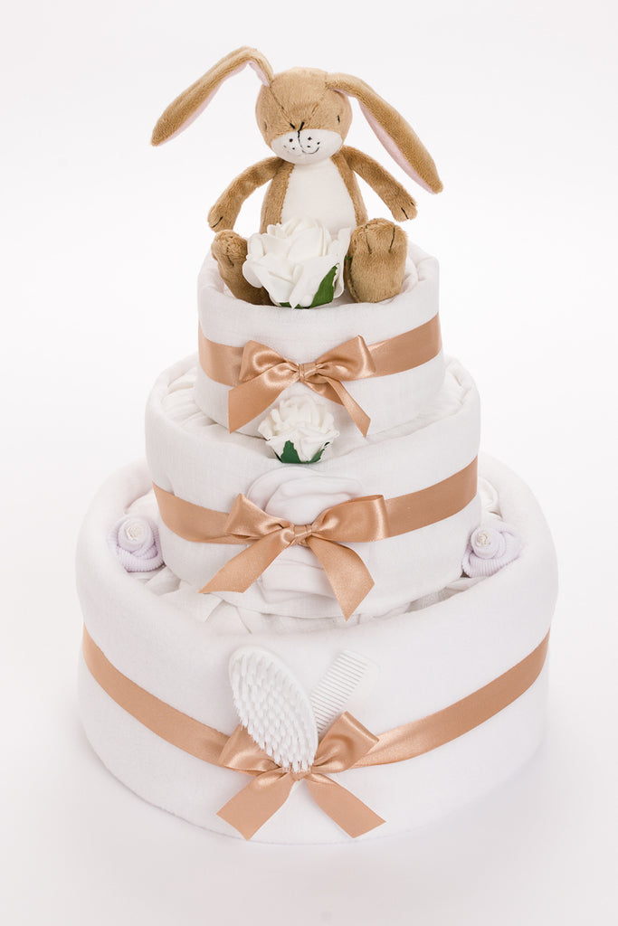 Baby's First Bunny 3 Tier Nappy Cake