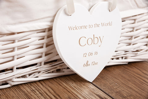 Baby plaque engraved