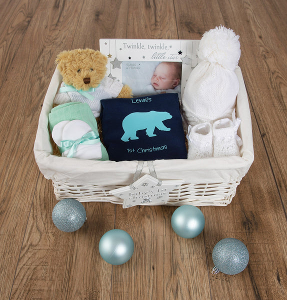 Christmas Gift Basket for newborn