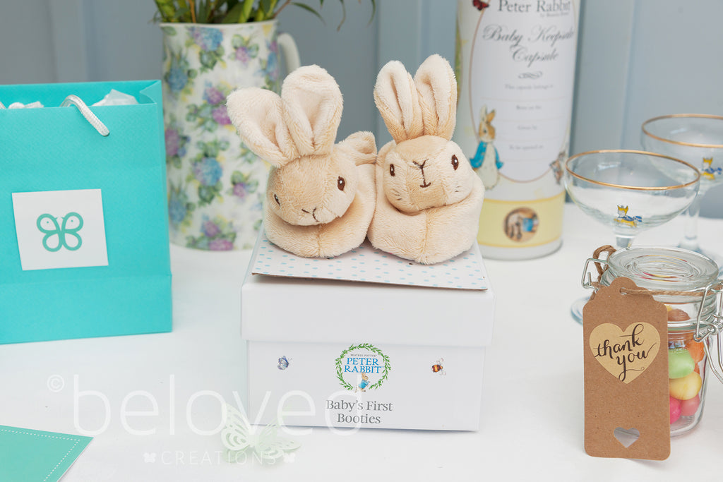 Peter Rabbit Baby Gift Sets : Peter rabbit baby booties gift set by beloved