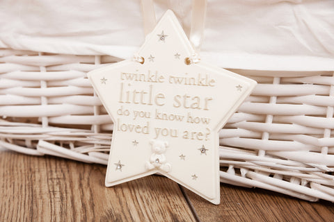 Twinkle Twinkle Little Star baby plaque