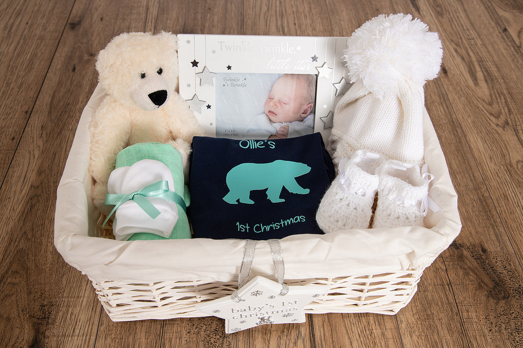 Polar Bear Baby Gift Basket