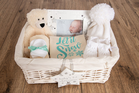 Let It Snow Baby Basket