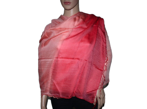 Pink peach Ombre Bamboo scarf - Yaslai - 1
