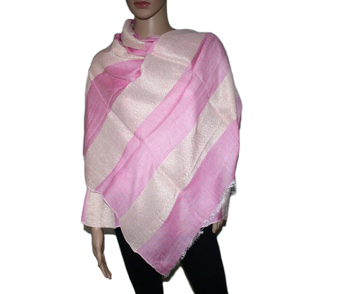 Pink and golden shimmer Modal scarf - Yaslai - 1