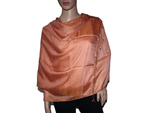 Light Bronze Pashmina scarf Water Shawl - Yaslai - 1