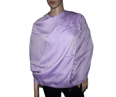 Purple Pashmina scarf Water Shawl - Yaslai - 1