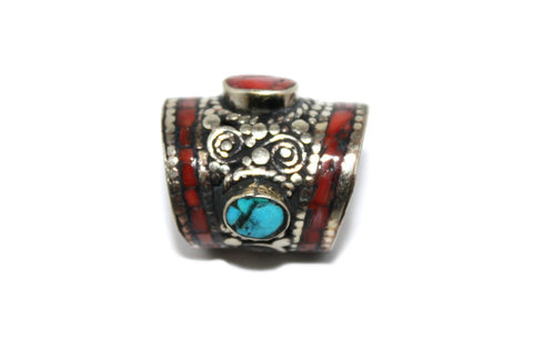 Turquoise Coral Amber Bead - Yaslai - 1
