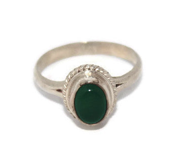 925 Sterling Silver Ring Jade Ring Tribal Ring Boho Ring - Yaslai - 1