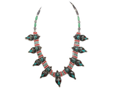 Coral Turquoise Necklace - Yaslai - 1
