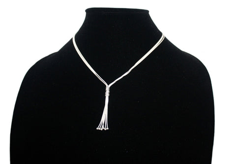 3 layered sterling silver chain necklace S1 - Yaslai - 1