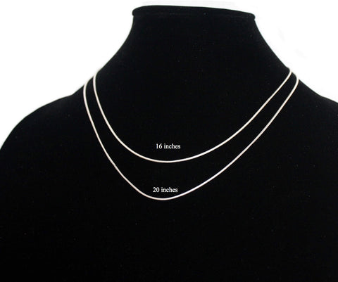 925 sterling silver necklace Silver chain S10 - Yaslai - 1