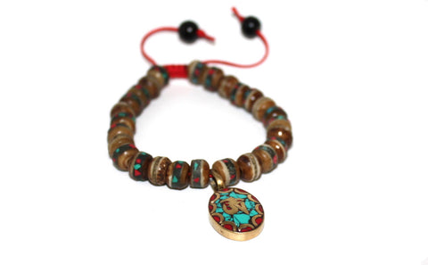 Brown Yoga Meditation Bracelet - Yaslai - 1