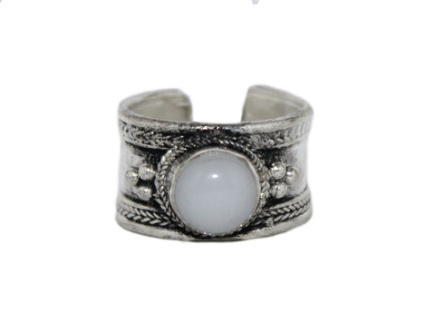 Adjustable Moon Stone Ring - Yaslai - 1